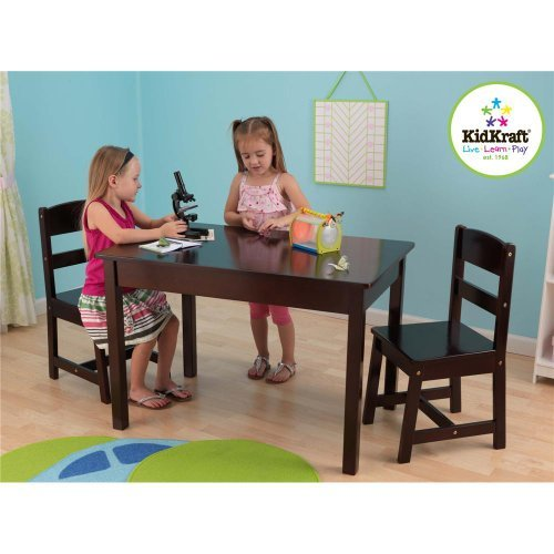 KidKraft Rectangle Table and 2 Chair Set - Espresso by KidKraft (Image #1)