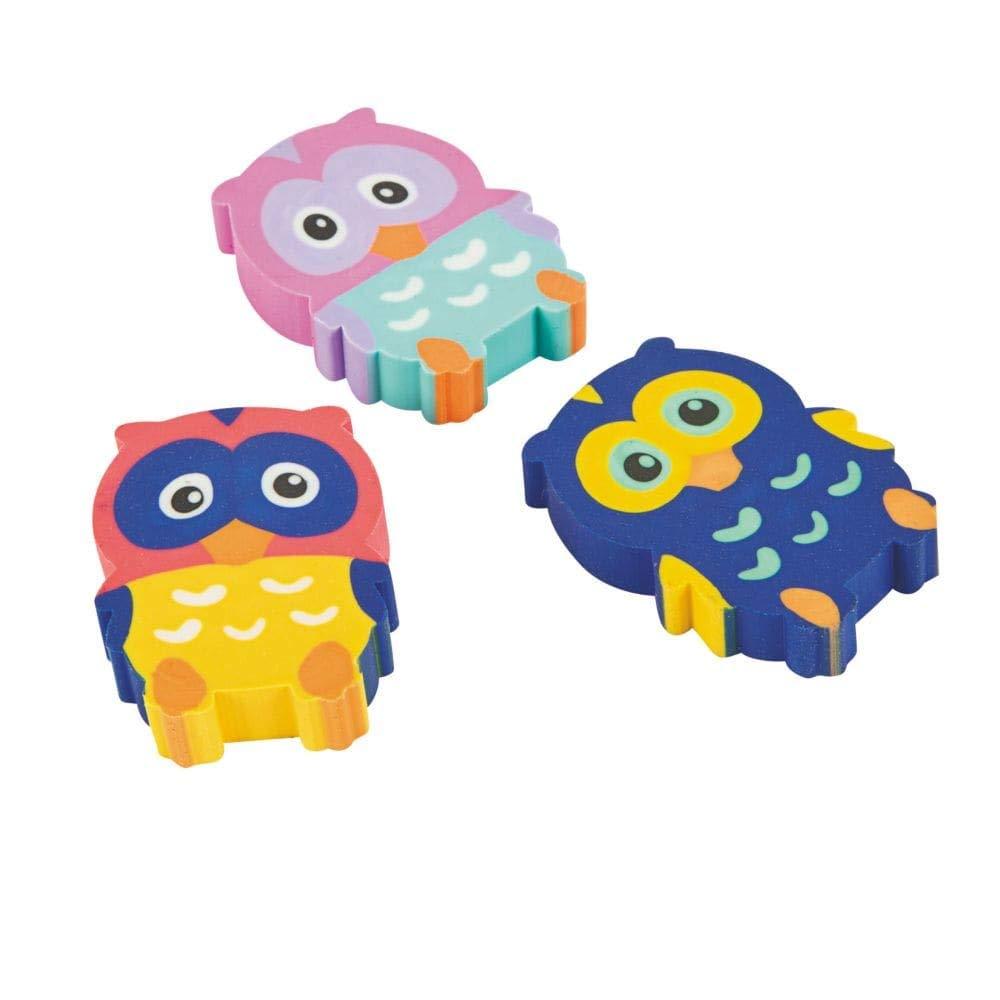 Fun Express Owl Erasers 2 Dozen