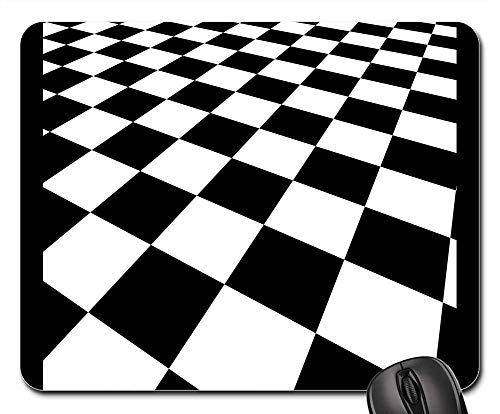 - Mouse Pads - Checkered Background Abstract Red White Design