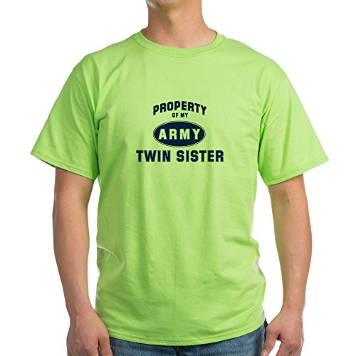 CafePress Property Of My Twin Sister Ash Grey T-Shirt - 100% Cotton (Sister Ash Grey T-shirt)