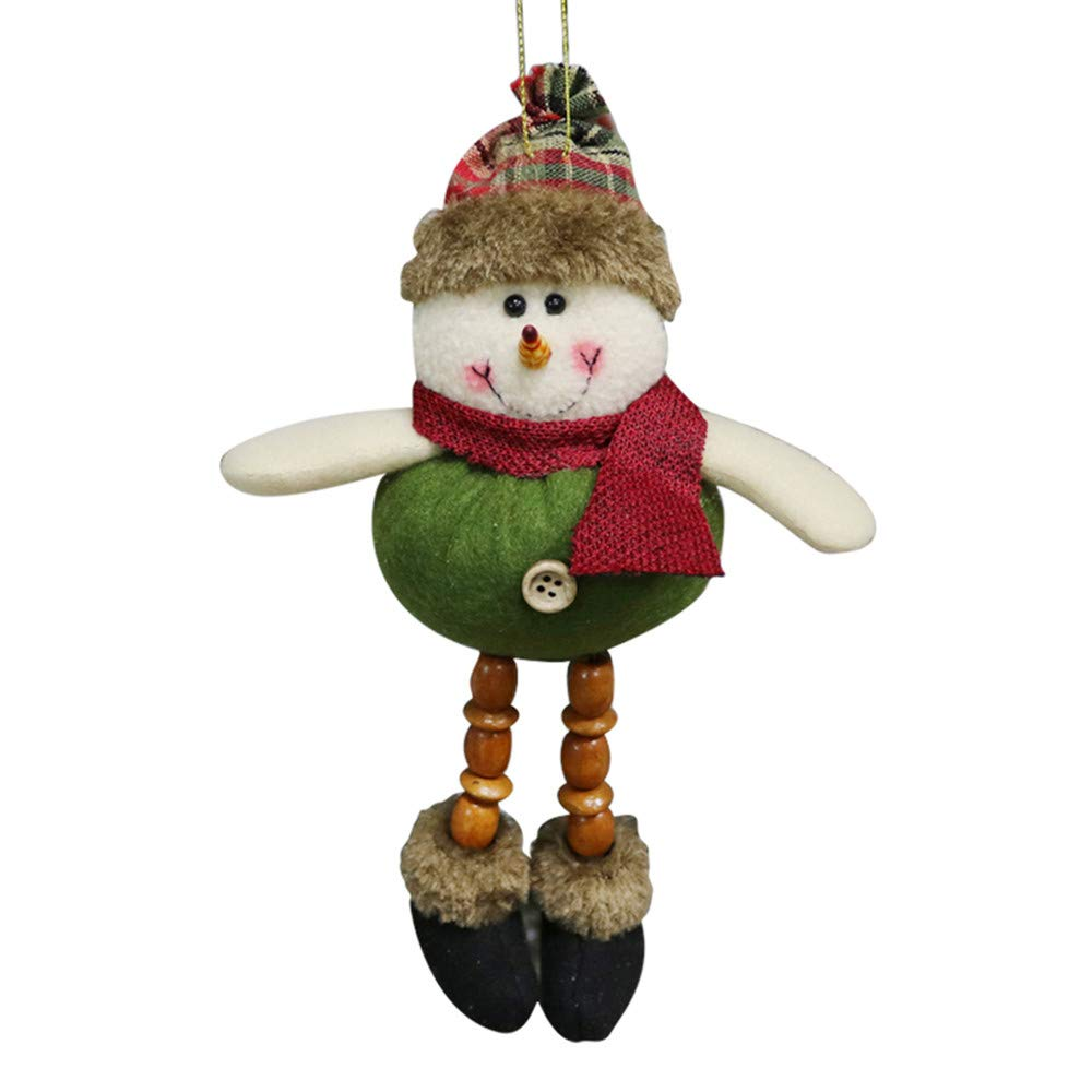 AmaSells Christmas Decor,Christmas Ornaments Santa Snowman Reindeer Toy Doll Hang Party Decoration, Pendant for Christmas Party (Multicolor B)