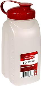 Rubbermaid MixerMate Bottle, 1 Quart, Chili Red
