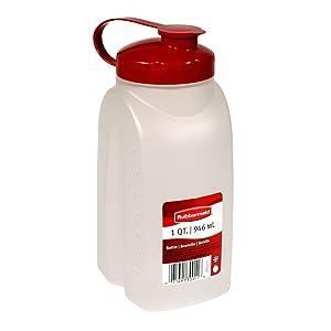 Rubbermaid MixerMate Bottle, 1 Quart, Chili Red 1776348