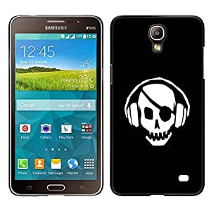 Caucho caso de Shell duro de la cubierta de accesorios de protección BY RAYDREAMMM - Samsung Galaxy Mega 2 - Pirata del cráneo del golpe