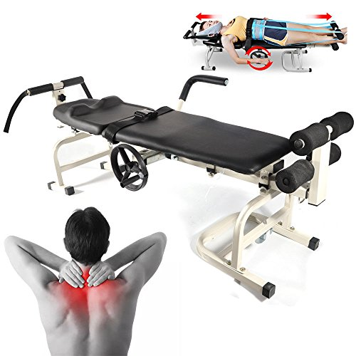 GDAE10 Traction Bed – Lumbar Stretcher Cervical Spine Lumbar Massage Bed for the lumbar traction stretching Bed for Lumbar Spine Cervical Discomfort Lumbar Disc Herniation