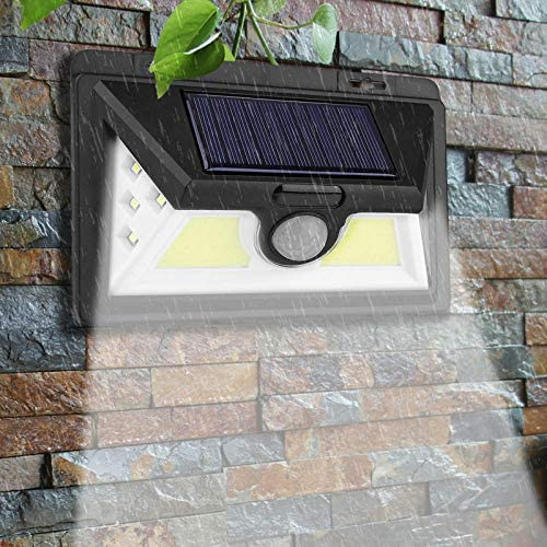 2PCS LED Solar Power PIR Bewegungssensor Wandleuchte Wasserdichter Hofweg im Freien Hausgarten Straße Nachtlicht