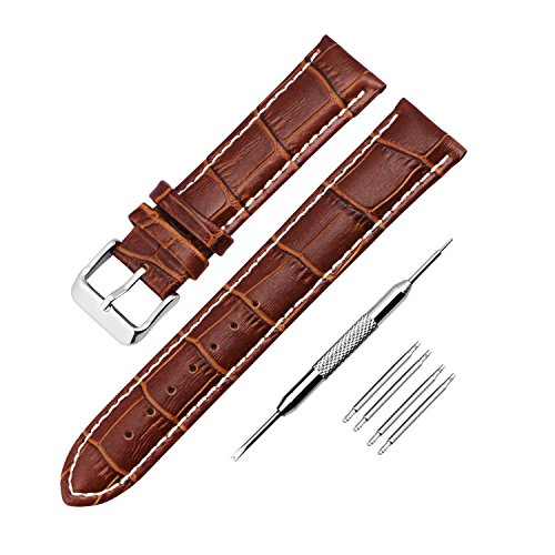 Zeiger 18mm Army Waterproof Interchangeable Leather Wrist Replacement Watch Bands Strap Men Women fit all watch