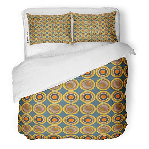Semtomn Decor Duvet Cover Set King Size Colorful Abstract Colored Circle Pattern for Australia Blank Bright 3 Piece Brushed Microfiber Fabric Print Bedding Set Cover]()