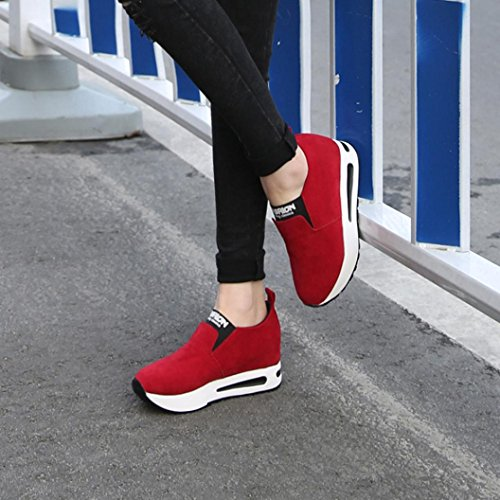 Sports Fitness Platform Shoes Running Sneakers Jogging Bottom Running Gym Lightweight Shoes B for Trainers Unisex Thick Red Casual Hiking Shoes Rg0nAn