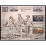 Civil War 1863: Battle of Gettysburg and Battle of Vicksburg, Sheet of 12 x Forever Postage Stamps, USA  2013, Scott  4787-88