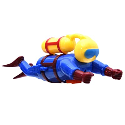 XGao Bath Toy, Clockwork Diver Superman Toys Bath Toys Clockwork Water Toys Swimming Toys Boys and Girls Swimmers Scuba Diver Toy Wind Up Clockwork Sea Baby Bath Toy Kids Toy (As Shown) : Baby