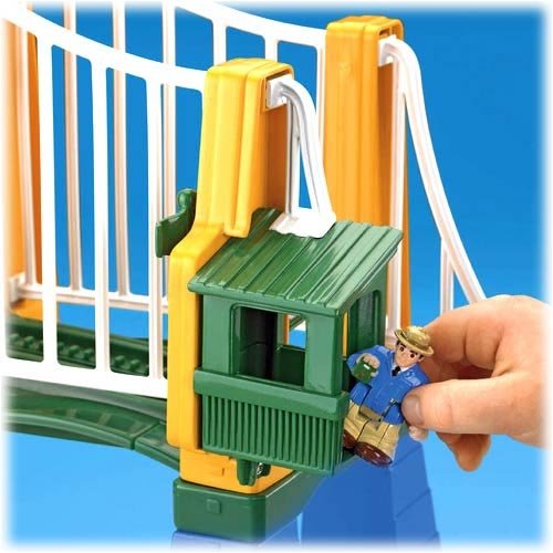 GeoTrax Sky High Suspension Bridge with Figure Fisher Price
