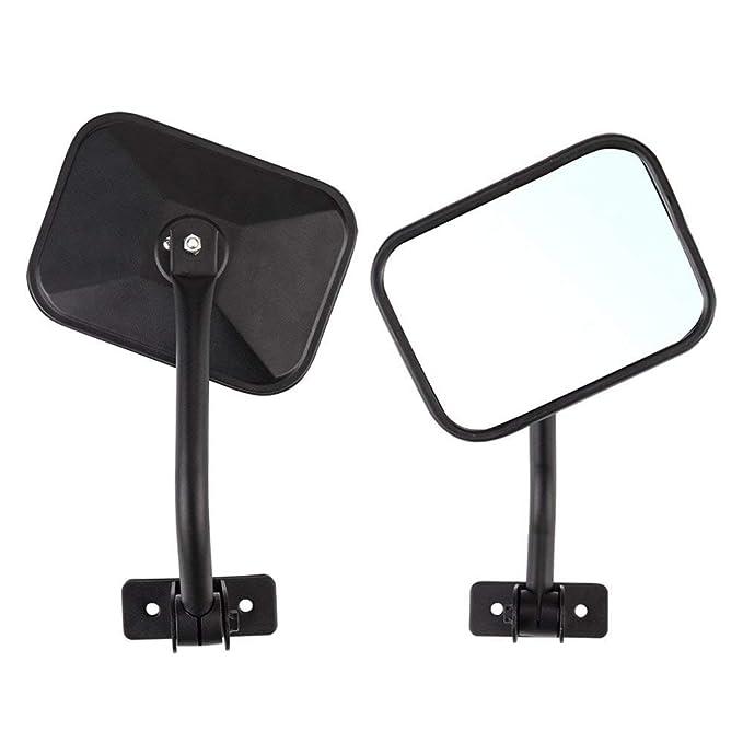 Sport Rubicon, Side View Door Mirror for J-eep JK CJ YJ TJ JL 1945-2018 Unlimited Accessories 2 Pcs JKU Sahara Right // Left