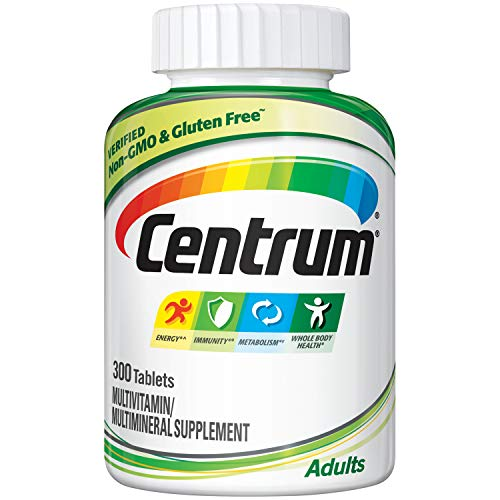 - Centrum Adult (300 Count) Complete Multivitamin / Multimineral Supplement Tablet, Vitamin D3, B Vitamins, Iron, Antioxidants