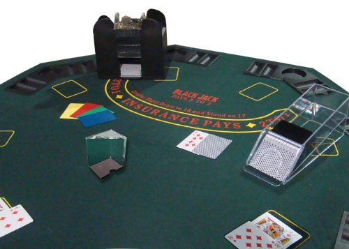 Poker Supplies Professional Casino Style PREMIUM Blackjack Set - Play Blackjack at Home!