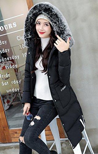 Di Winter Media Lunghezza Nera Womens Imbottita Cotone In Fit Comvip Slim Giacca Con Cappuccio vT5xwUwZq4