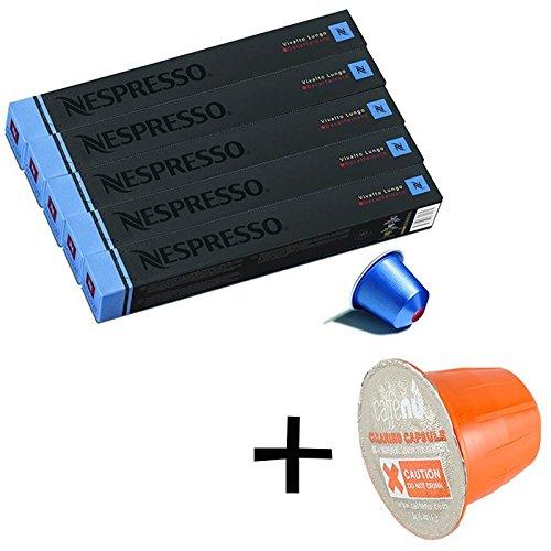 (유익 세트/세제 샘플1 개부착) NESPRESSO 네스프레소 캡슐 커피 《비바루토》・《룬고》・데카 회 1개 10캡슐x5개 세트