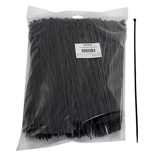 1000 Pc Bag Black Nylon 11