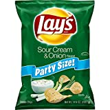 Lay's Sour Cream & Onion  Potato Chips, Party Size! (14.75 Ounce)