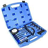 YOLO Stores - Compression Tester Diesel Engine Kit 17pc Tool Set Automotive Compressor, 0-70 Bar/0-1000 Psi, 17 Pieces