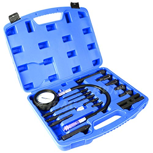 YOLO Stores - Compression Tester Diesel Engine Kit 17pc Tool Set Automotive Compressor, 0-70 Bar/0-1000 Psi, 17 Pieces by YOLO Stores (Image #6)