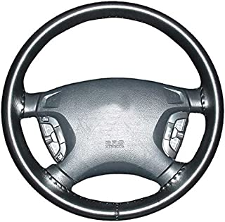 product image for Wheelskins Genuine Leather Black Steering Wheel Cover Compatible with Hyundai Vehicles-Size C