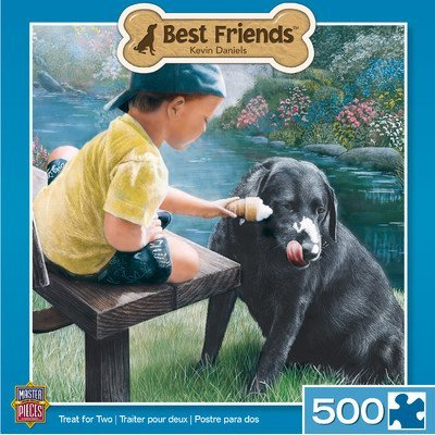 MasterPieces Best Friends Treat for Two Jigsaw Puzzle, 500-Piece by Masterpieces (English Manual)