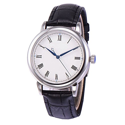 (40mm Sterile White Dial Roman Numbers Sapphire Glass Automatic Self Wind Men's Watches)