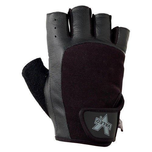 Jersey Grip Gloves Extra (Valeo Industrial V335 Pro-Material Handling/Competition Fingerless Lifting Gloves, VA5149, Pair, Black, Large)