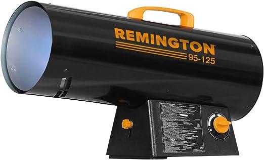 Amazon Com Remington Heater Rem 125v Gfa O 125 000 Btu Propane Forced Air Heater Black Home Improvement