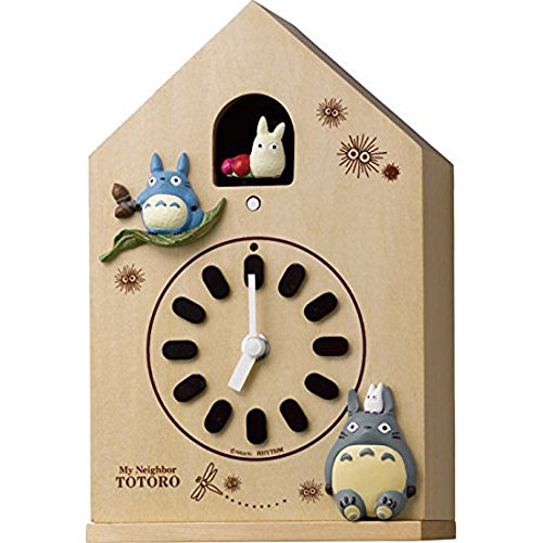 リズム時計工業 となりのトトロ クオーツ掛置兼用時計 トトロM899 4MH899-M06 カッコー 報時 ハト時計 薄茶半艶仕上 アナログ B00VNWX75E