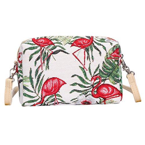 del de moda mujeres Flamenco de cadera de la la Bolso de SIGNARE viaje las Acrossbody de tapicería la xScvtY