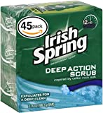 Irish Spring Bar Soap for Men & Women. 12-HOUR ODOR / DEODORANT PROTECTION! For Healthy Feeling Skin. Great for Hands, Face & Body! (45-Count, Moisture Blast)