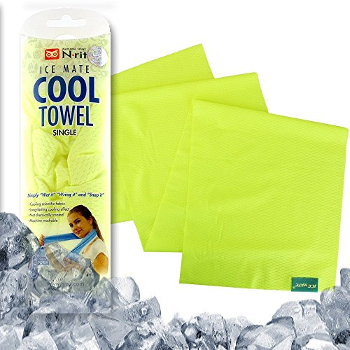 N-rit Ice Mate Cooling Towel [Yellow] 36