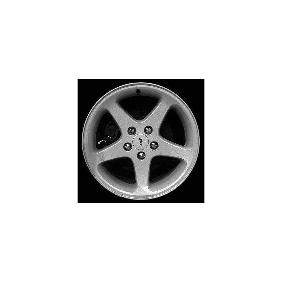 99 02 FORD MUSTANG ALLOY WHEEL RIM 17 INCH, Diameter 17, Width 8, Lug 5 (5 SPOKE, COBRA), BRIGHT SILVER, 1 Piece Only, Remanufactured , (center cap not included) (1999 99 2000 00 2001 01 2002 02) ALY0