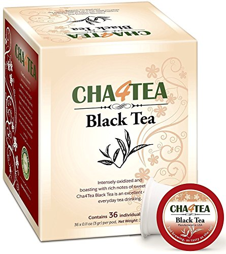 Cha4TEA 36-Count Black Tea K Cups for Keurig K-Cup