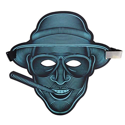 ハロウィンマスク 仮装マスク ダンスマスク 怖いマスク 悪魔マスク 発光 音声制御 仮装 仮面 光る 変装 お化け屋敷 コスプレ衣装 コスチューム小道具 仮装 パーティー ジョークグッズ コレクション アイテム Prosperveil