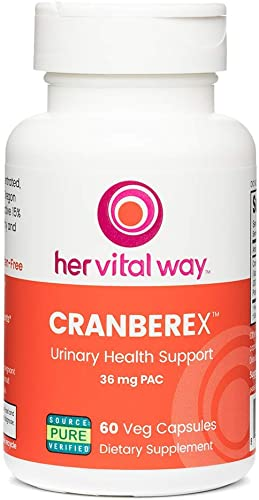 Cranberex Cranberry Concentrate Supplement Pills Cranberry Extract Capsules for Urinary Tract Health and Kidney Care 36mg PAC