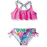 Breaking Waves Little Girls' Amazon Adventure Two Piece Swimsuit, Multi, 6