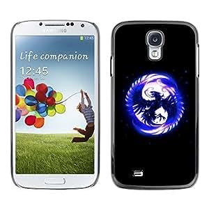 TECHCASE**Cubierta de la caja de protección la piel dura para el ** Samsung Galaxy S4 I9500 ** Blue Phoenix In Moon