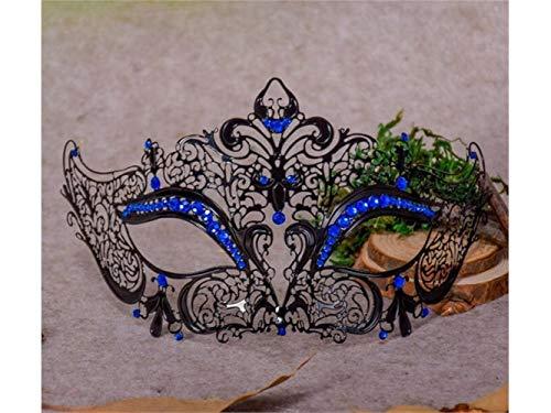 Scary Princess Lace Cutout Mask Half Face Masquerade Mask for Venetian Halloween Party (Black) Halloween -