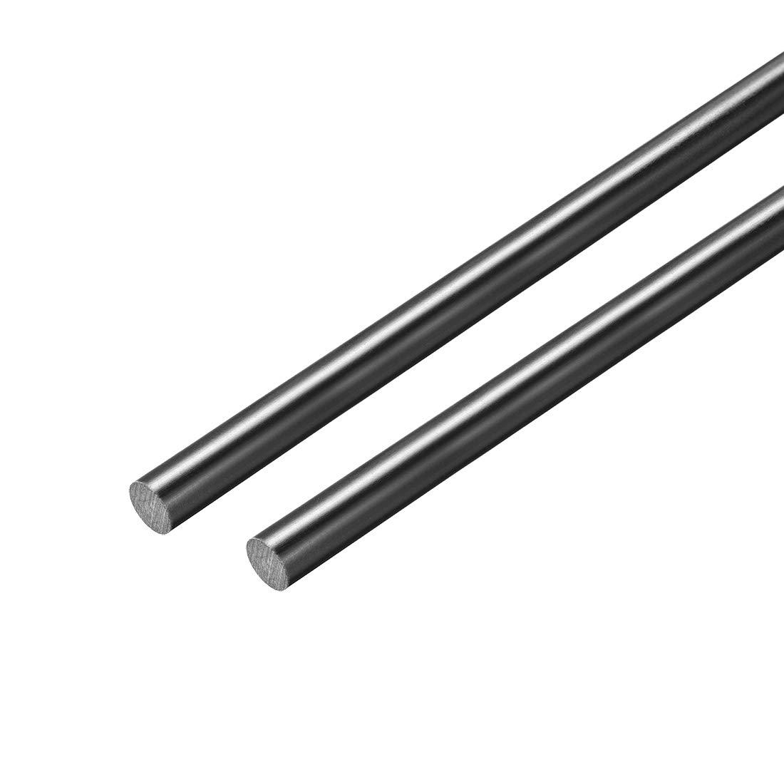 1.5mm Dia 20 Length Black Engineering Round Bar Rod 2pcs sourcing map FRP Fiberglass Round Rod
