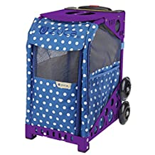 "Zuca ZuZuca Rolling Pet Carrier - ""Best In Show"" Insert Bag, Choose Your Frame Color (Purple Frame & Flashing Wheels)"
