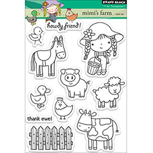 Penny Black Mimi's Farm Transparent/Clear Stamps