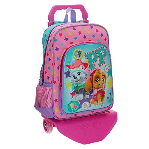 La Patrulla Canina Best Pup Ever – Mochila escolar, 15.43 l, color azul/ rosa