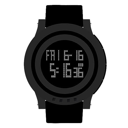 bc244fe7caa7 Skmei unisex LED silicona reloj de pulsera deportivo Digital resistente al  agua reloj de pulsera