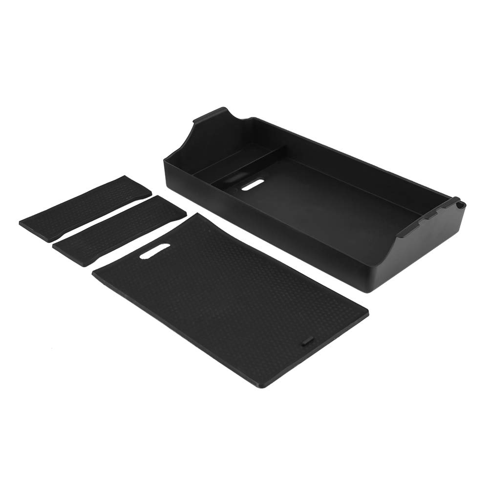 KIMISS Armrest Secondary Storage Glove Box Container Center Console Tray for Toyota Land Cruiser 08-17