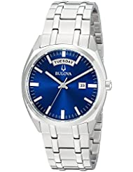 Bulova Mens Classic Quartz Stainless Steel Casual Watch, Color:Silver-Toned (Model: 96C125)