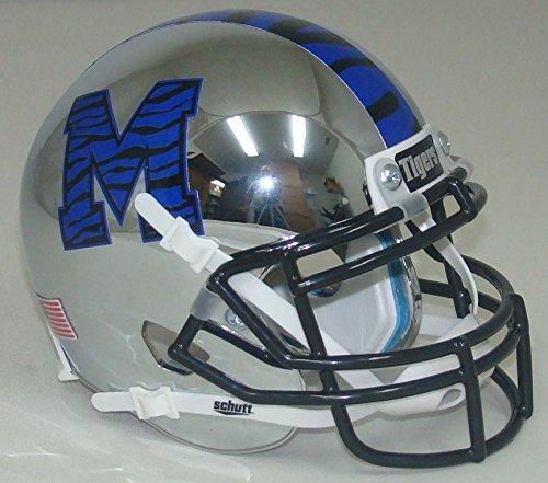 NCAA Memphis Tigers Chrome Mini Helmet, One Size, White