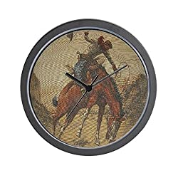 CafePress TGY Western Style Wall Clock (Cowboy Horse) Unique Decorative 10 Wall Clock